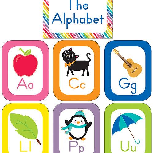 Share Just Teach Alphabet Cards Bulletin Board Set