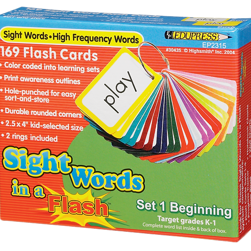 Sight Words in a Flash Cards