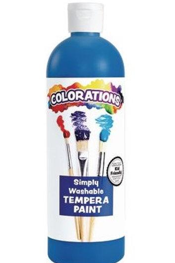 Blue Washable Tempera, 16oz