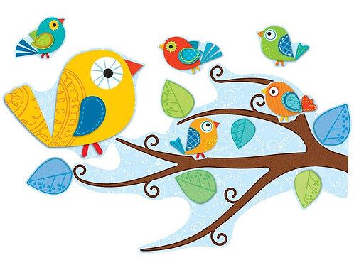 Boho Birds Bulletin Board Set