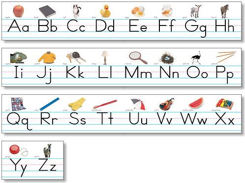 Alphabet Lines - Photo Traditional Manuscript