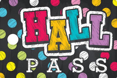 Neon Chalk Hall Pass