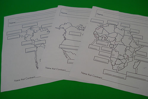 Countries Inside The Continents Worksheets