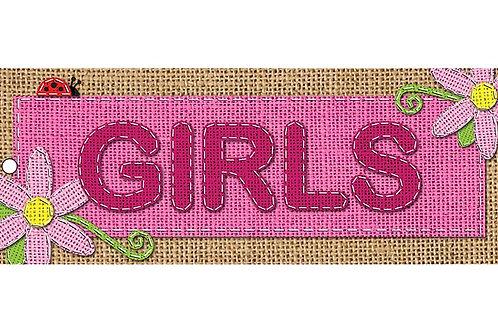 Burlap Girls Laminated Pass