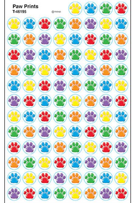 Paw Print Spot Stickers