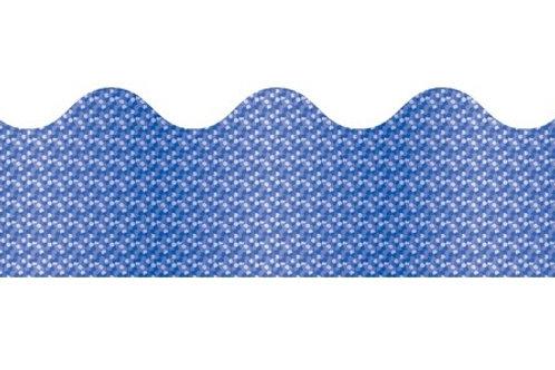 Blue Sparkle Scalloped Border