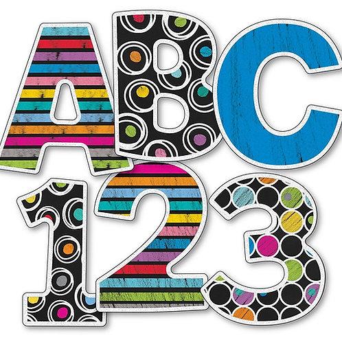 Colorful Chalkboard EZ Letters