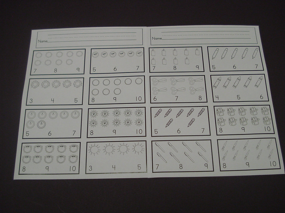 Counting Made Easy Worksheets