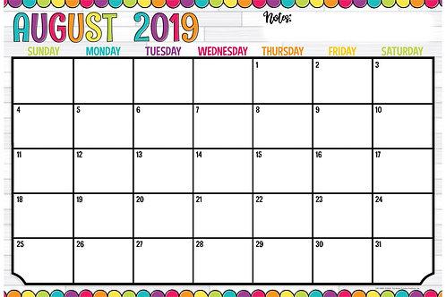 Dot Academic Desk Calendar 2019-20