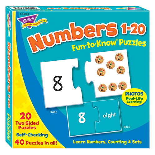 Numbers 1-20 Fun-to-Know® Puzzles
