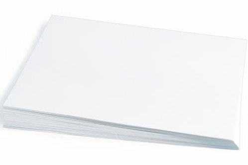 Construction Paper White   9 x 12    50 pack