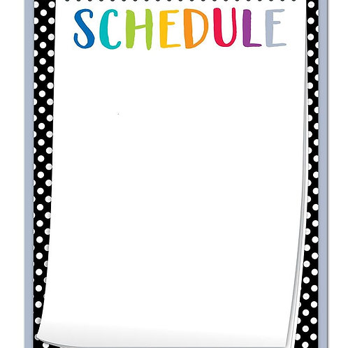 Bold & Bright Schedule Chart