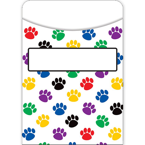 Paw Print Library Pockets