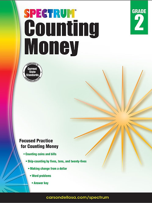 Spectrum Counting Money Workbook
