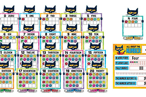Pete the Cat Numbers 0-20