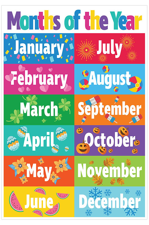 Months of the Year Smart Chart