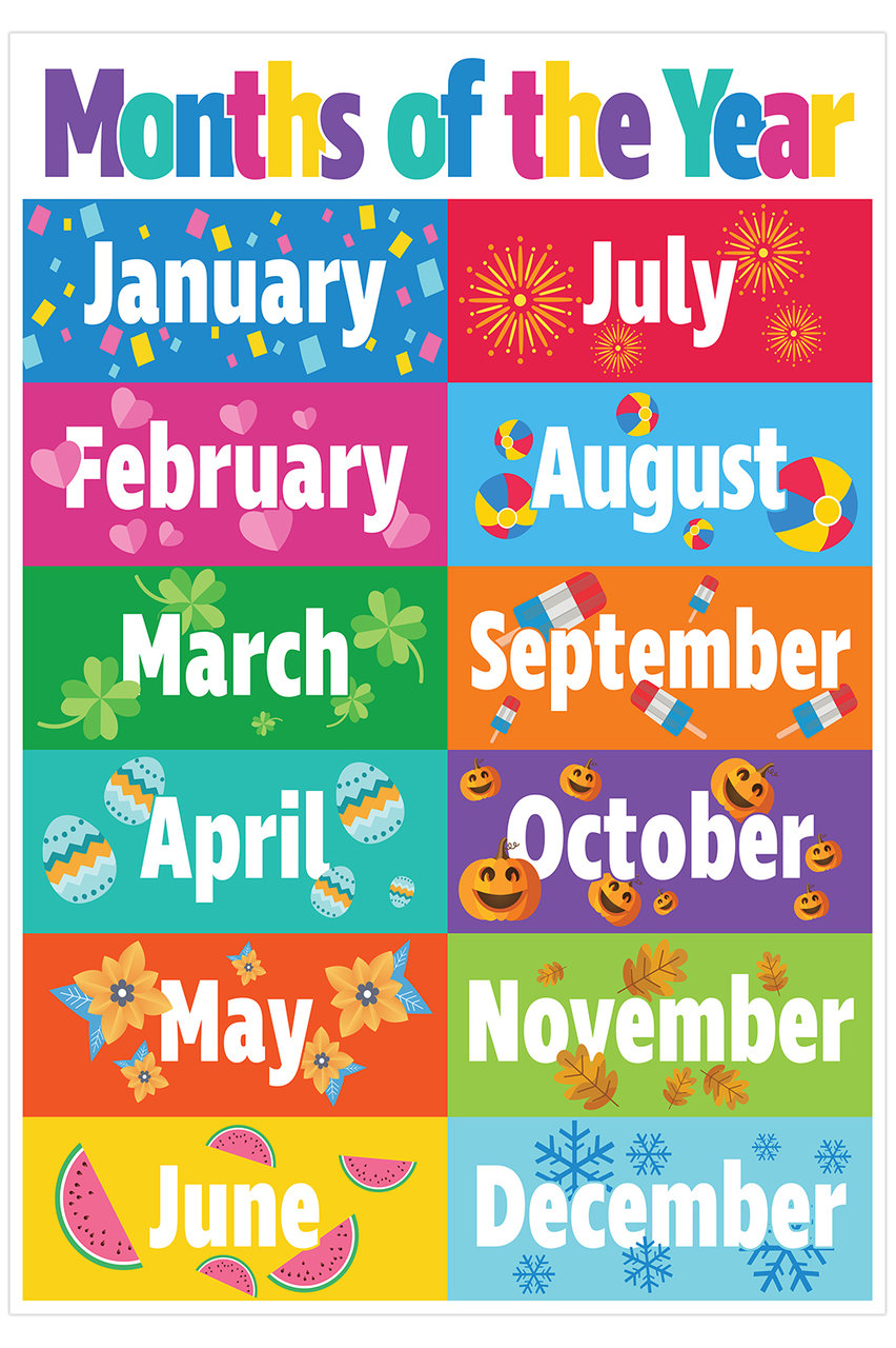 This is a picture of Printable Months of the Year with regard to free printable