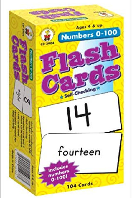 Number Flashcards 1-100
