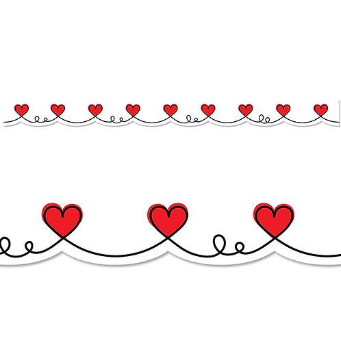 Doodle Hearts Border