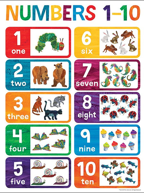 World of Eric Carle™ Numbers 1-10 Chart