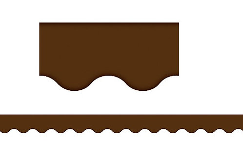Chocolate Scalloped Border