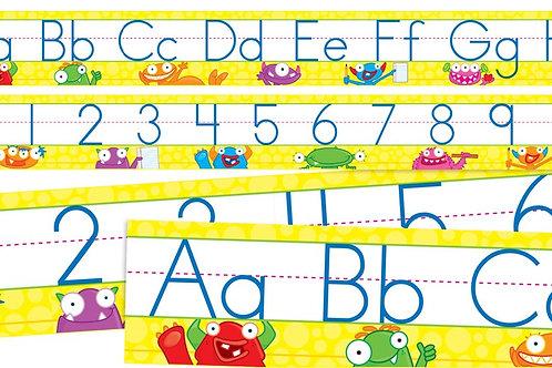 Alphabet Number Monster Set