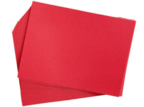 Construction Paper Holiday Red    9 x 12     50 sheets
