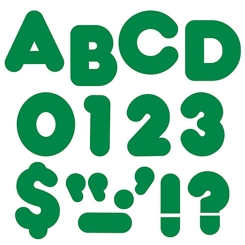 Ready Letters Kelly Green 4-Inch Casual Uppercase