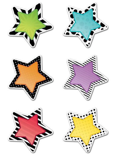 """Bold & Bright Stars 6"""" Designer Cut-Outs"""