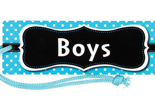 Aqua Polka Dots Magnetic Boys Pass