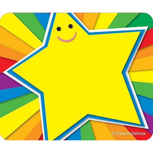 Rainbow Star Name Tag