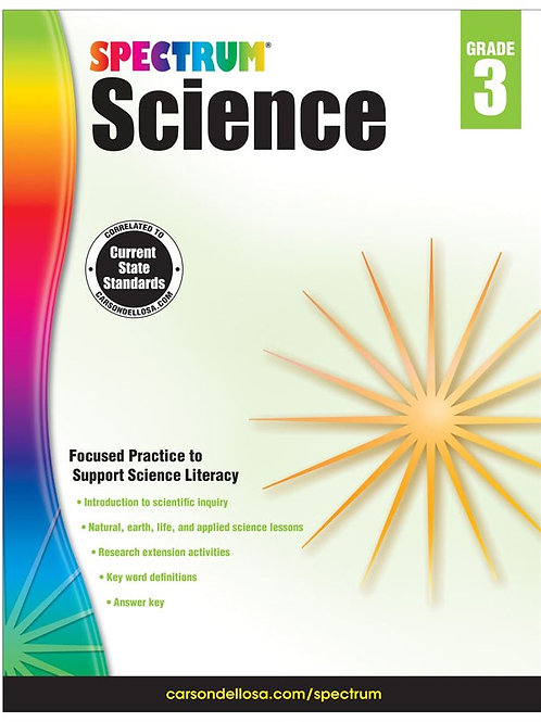 Spectrum Science Workbook Gr 3
