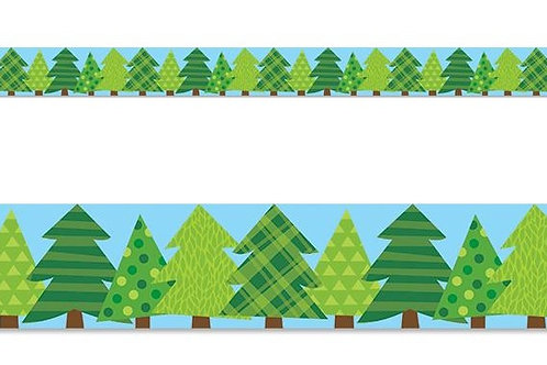 Woodland Friends Patterned Pine Trees Border