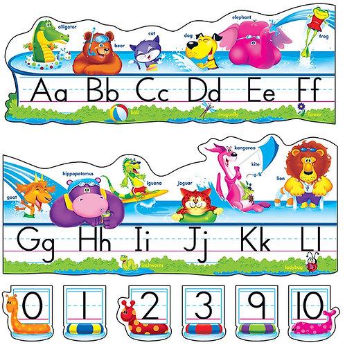 Pool Party Pals Alphabet Line