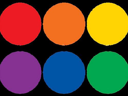 "Colorful Circles Carpet Markers - 4"""