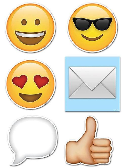 "Emojis 6"" Designer Cut-Outs"