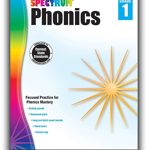 Spectrum Phonics Workbook  1st Gr