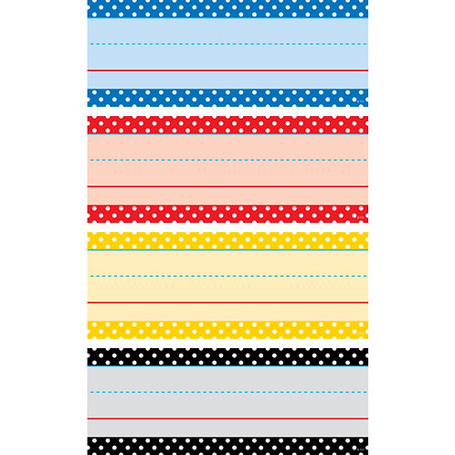 Classic Colors Polka Dots Word Strips