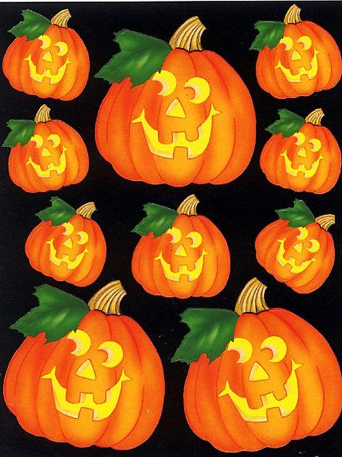 Halloween Jack O'Lanterns Giant Stickers