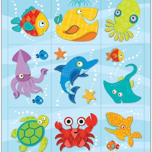 Seaside Splash Stickers
