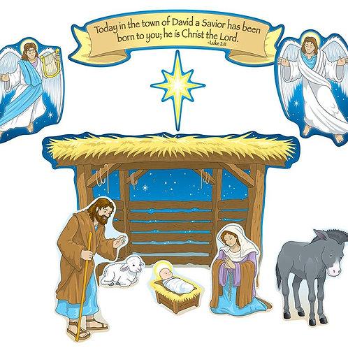 Nativity Mini Bulletin Board Set