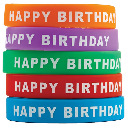Happy Birthday Wristbands