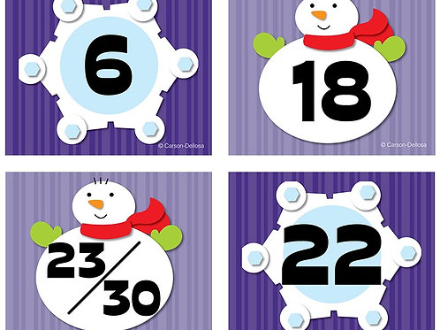 Snowflake/Snowman Calendar Cover-Up