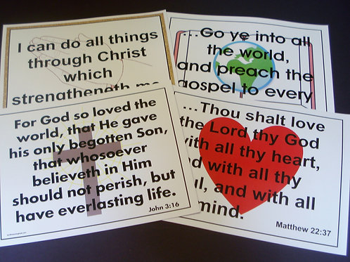 Bible Verse Flashcards KJV