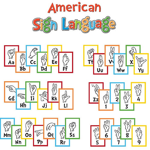 Dr. Seuss™ Sign Language Alphabet