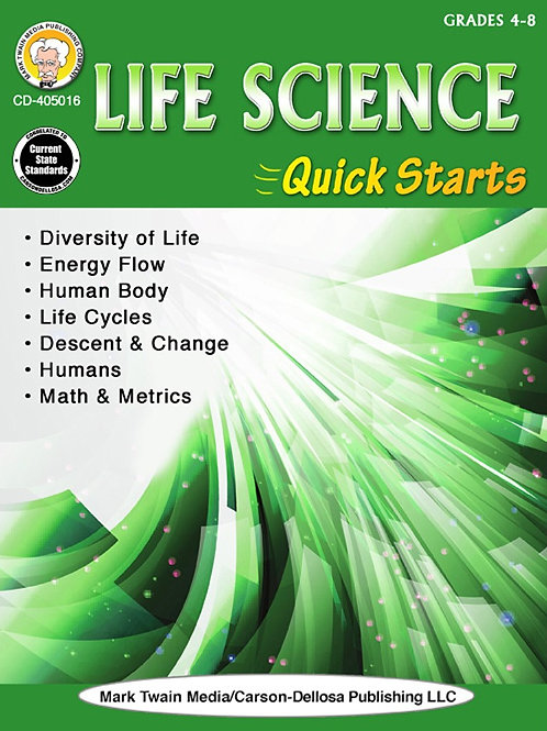Life Science Quick Starts Workbook