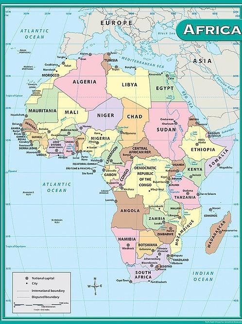 Africa Map Chart