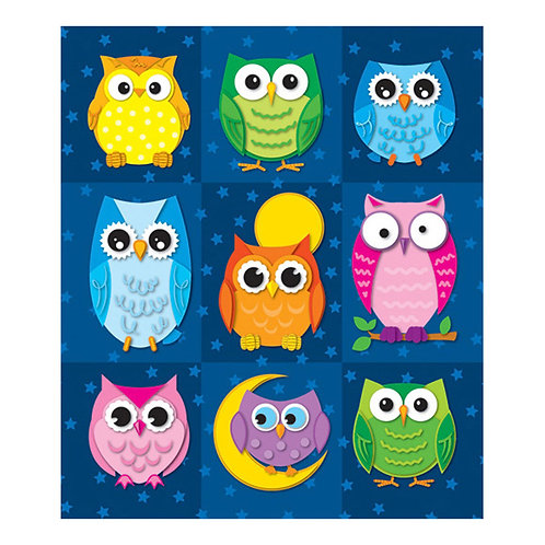 Colorful Owls Stickers
