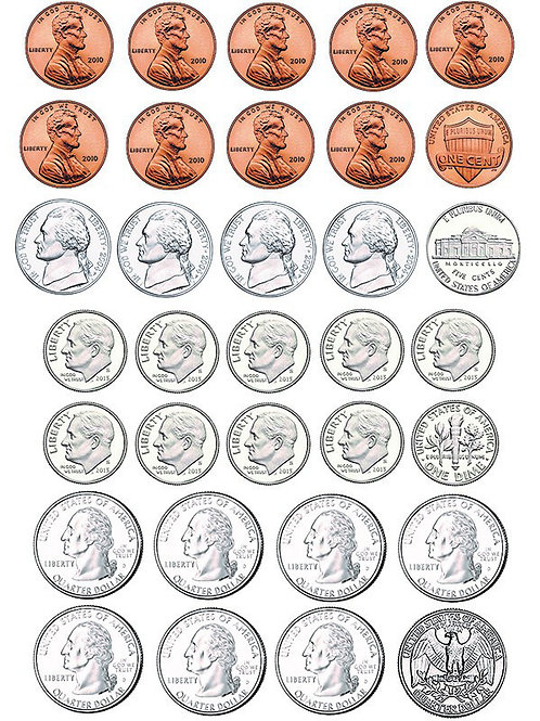 MAGNETIC MONEY-US COINS
