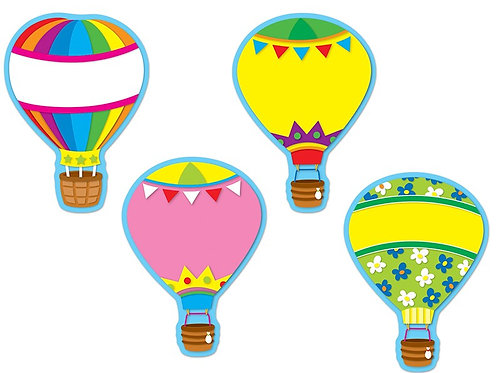 Hot Air Balloons Cut-Outs